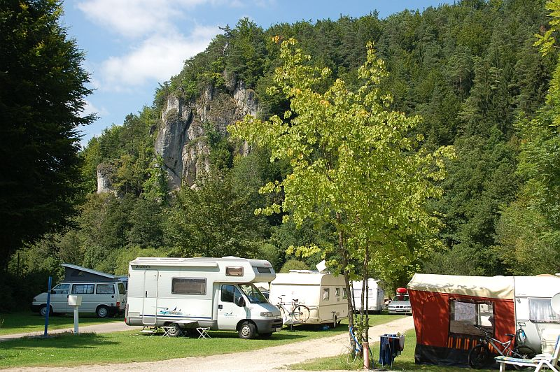 graphic:  Caravan park in the Franconian Switzerland